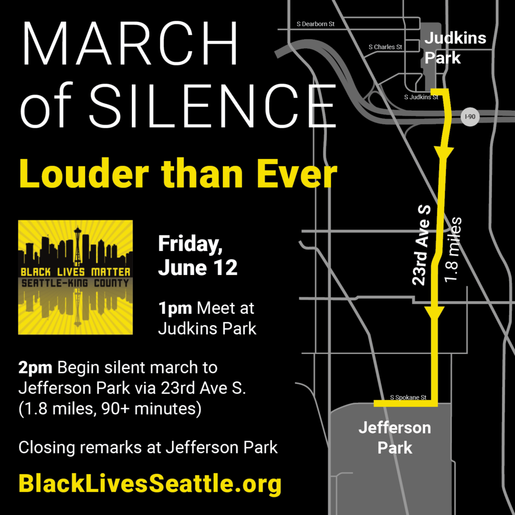 Map of the route for June 12 March of Silence